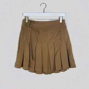 Free People School Girl Pleated Skirt with Zipper